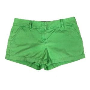 J. Crew Green City Fit Shorts Size 8